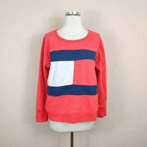 Tommy Hilfiger Red Logo Sweatshirt 90s